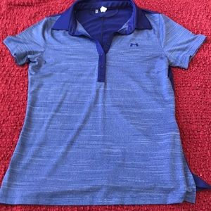 Purple under armour colored shirt